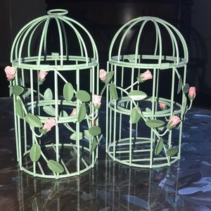 Domed Rose Cage Candle Holders